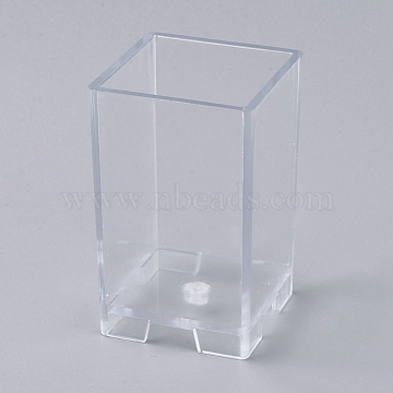 Plastic Candle Molds, for Candle Making Tools, Square Shape, Clear, 57x57x92mm, Inner Size: about 50x50mm(AJEW-WH0021-77I)