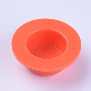 Plastic End Caps, Glue Dispensing Industrial Syringe Barrel End Cover, Orange, 15~23x9mm(TOOL-WH0103-08A-02)