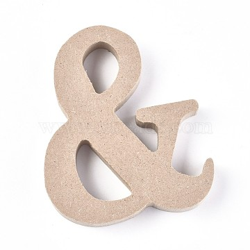 Ampersand Unfinished Wood Decoration, Laser Cut Wood Shapes, for DIY Painting Ornament Christmas Home Decor Pendants, Antique White, 101x85x15mm(DIY-WH0162-64)