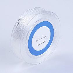 Fil de fibre élastique, blanc, 0.8mm, 50m/rouleau(EW-G009-01-0.8mm)