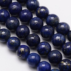 Grade A Nature Lapis Lazuli Round Bead Strands, Dyed, 8mm, Hole: 1mm; about 48pcs/strand, 15.1