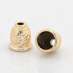 Не содержащие никель и не содержащие свинца золотые тоновые наконечники и конусы, долговечный, безлепестковый, 11x10 mm, отверстия: 3 mm, Внутренний диаметр: 8 mm(PALLOY-J471-48G-FF)