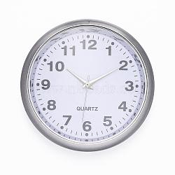 Composants de montres, plat rond, blanc, platine, 40.5x9 mm; boitier montre: 36 mm(WACH-H041-01D)