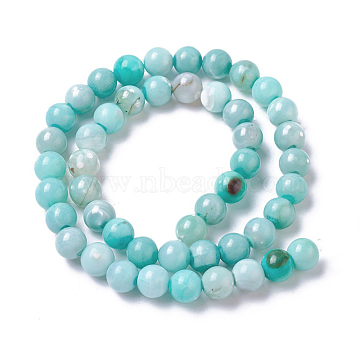 8mm PaleTurquoise Round Natural Agate Beads