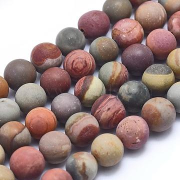 9mm Round Picture Jasper Beads