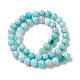Natural Dyed Agate Imitation Turquoise Beads Strands(X-G-P425-02A-8mm)-1