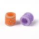 Mixed Color Column Large Hole Charms Acrylic Enamel Beads Fit European Beading Bracelet Making(X-PAB2851Y)-2