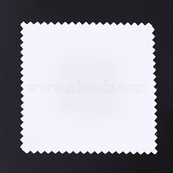 Silver Polishing Cloth, Jewelry Cleaning Cloth, Sterling Silver Anti-Tarnish Cleaner, Square, White, 8x8x0.05cm(X-AJEW-Q138-03)