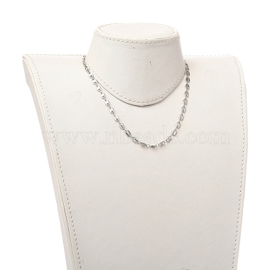 304 Stainless Steel Coffee Bean Chain Necklaces(X-NJEW-JN02917)-4