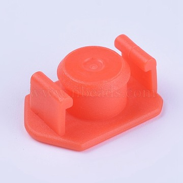 Plastic End Caps, Glue Dispensing Industrial Syringe Barrel End Cover, Orange, 19x14x7.5mm; Knob: 10mm In Diameter(TOOL-WH0103-13B)