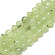 Natural Prehnite Beads Strands(G-S300-118-8mm)-1