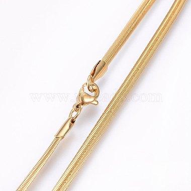 304 Stainless Steel Herringbone Chain Necklaces(X-NJEW-F227-02G-04)-2