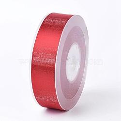 "Rubans satin polyester avec double face, firebrick, 1"" (25 mm); environ 100yards / rouleau (91.44m / rouleau)(SRIB-P012-A10-25mm)"