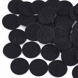 Tampon de parfum en tissu non tissé, plat rond, noir, 15x0.5 mm; environ 2000 PCs / sac(DIY-S035-10A-15mm)