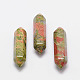 Faceted Bullet Natural Unakite Point Beads for Wire Wrapped Pendants Making(G-K014-30mm-01)-1
