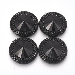 Cabochons en résine, facette, cône, noir, 30x8mm(CRES-R190-30mm-02)