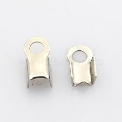 304 нержавеющая сталь складной обжима концов, цвет нержавеющей стали, 8x4x3 мм, отверстия: 2 mm; Внутренний диаметр: 3x3 mm(STAS-N034-08)