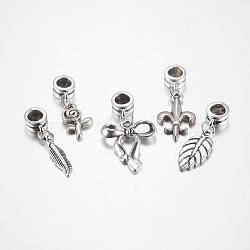 Perles européennes de pendentif en alliage , mixedstyle, argent antique, 23~43mm(X-PALLOY-JF00001)