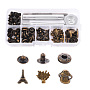 Brass Garment Buttons(SNAP-YW0001-07AB)