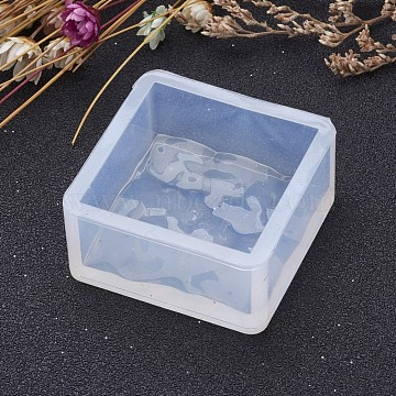 Square Shape DIY Silicone Molds, Resin Casting Molds, For UV Resin, Epoxy Resin Jewelry Making, Clear, 36x36x17mm; Inner Size: 30x30mm(X-AJEW-P036-02)