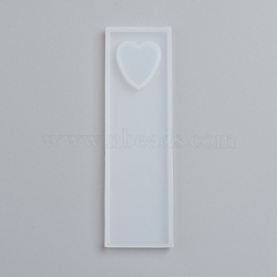 силиконовые формы для закладок, формы для литья смолы, для уф-смолы, изготовление ювелирных изделий из эпоксидной смолы, сердце, очистить, 90x26x5 мм; сердца: 16x16 мм