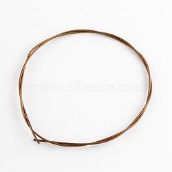 Fil de mémoire en acier pour la fabrication de bijoux, cuivre rouge, Jauge 18, 1 mm; 17.5(TWIR-SW001M-01)