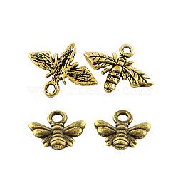 Kits de pendentifs de style tibétain en alliage, abeille, couleur mixte, 9.5~13.5x11~17.5mm, Trou: 1.5~2mm(TIBEP-X0186-01-FF)