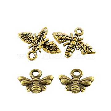 Mixed Color Bees Alloy Pendants
