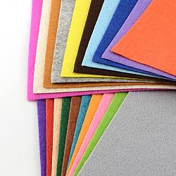 Feutre à l'aiguille de broderie de tissu non tissé pour l'artisanat de bricolage, couleur mixte, 15x15x0.1 cm; 40 pcs / sac(DIY-S024-01)
