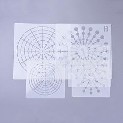 Gabarits pour gabarits de dessin nbeads®, blanc, 13.5~20x13.5~20x0.02cm; 9pcs / set(DIY-NB0002-66)