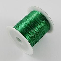 Tronçon vert perles élastique chaîne de fil, 1mm, 10m/rouleau(X-EW-S002-10)