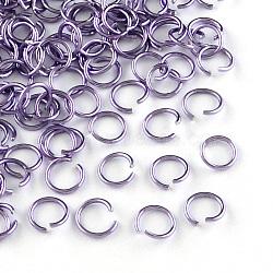 fil d'aluminium Anneaux ouvert, plu, Jauge 20, 6x0.8 mm, diamètre intérieur: 5 mm; environ 430 pcs / 10 g(X-ALUM-R005-0.8x6-06)