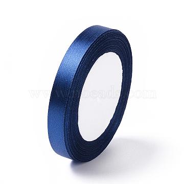 Satin Ribbon, Dark Blue, about 1/2 inch(12mm) wide, 25yards/roll(22.86m/roll)(X-RC12mmY054)