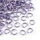 Aluminum Wire Open Jump Rings(X-ALUM-R005-0.8x6-06)-1