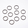 Gunmetal Ring Iron Close but Unsoldered Jump Rings(IFIN-F142-01B)