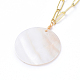 Natural Freshwater Shell Pendant Necklaces(X-NJEW-JN02788)-2