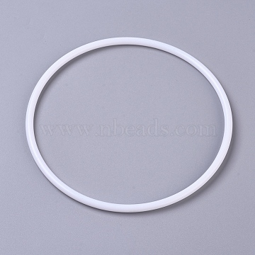 Hoops Macrame Ring, for Crafts and Woven Net/Web with Feather Supplies, White, 143x5.5mm, Inner diameter: 133.5mm(X-DIY-WH0157-47E)