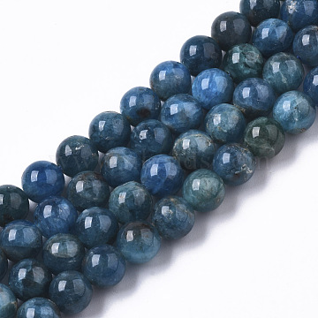 Natural Apatite Beads Strands, Round, Grade A, 7mm, Hole: 1mm; about 57pcs/strand, 15.16''(38.5cm)(G-R465-20)