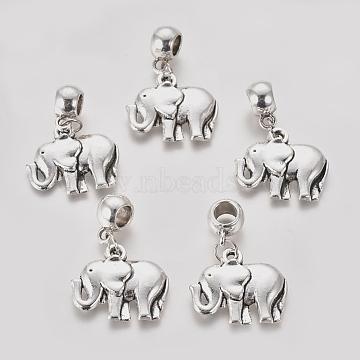 37mm Elephant Alloy Dangle Beads