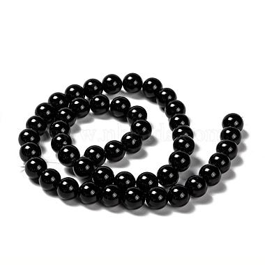 Natural Obsidian Beads Strands(X-G-K123-06-8mm)-2