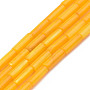 Natural Freshwater Shell Beads Strand, Dyed, Column, Orange, 9x3mm, Hole: 0.8mm, about 38pcs/strand, 16.93 inches(43cm)