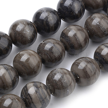 Natural Wood Lace Stone Beads Strands, Round, 18mm, Hole: 1mm; about 22pcs/strand, 15.7inches(G-S259-40-18mm)