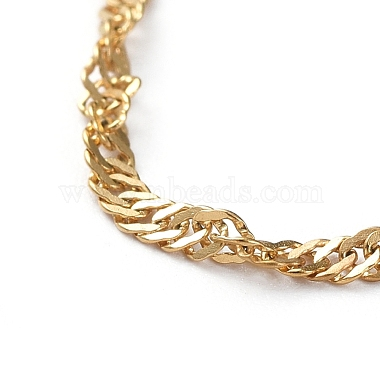 304 Stainless Steel Singapore Chains Necklaces(X-NJEW-JN02662-03)-2