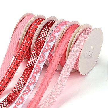 3Rolls Polyester Ribbons & 3Rolls Polyester Grosgrain Ribbons(SRIB-F009-02)-2