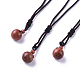 Synthetic Goldstone Pendant Necklaces(NJEW-P241-A13)-1