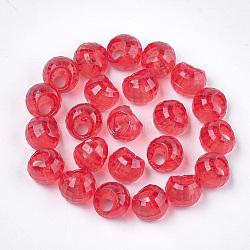 прозрачные как пластиковые брелоки, граненый, малиновый, 10x10x9 mm, отверстия: 3 mm; о 1350 шт / 500 г(MACR-S365-10A)