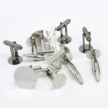 Mixed Brass Cufflink Findings Garment Buttons, Mixed Color, Tray: 10~12mm, 16~20x18~19x10~12mm(KK-X0002)