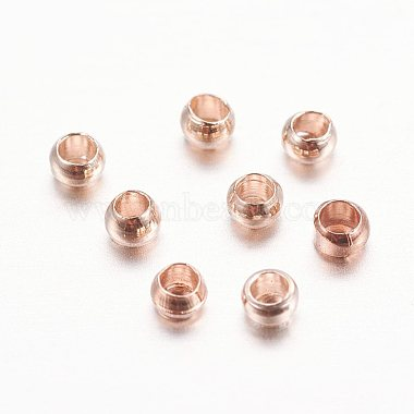 Rose Gold Rondelle Brass Crimp Beads