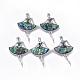 Abalone/Paua Shell Broochs/Pendants(RESI-S376-16)-1