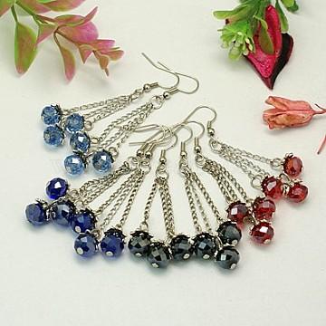 2pcs Tibetan Style Large Chandeliers Necklace Links Connectors Silver 64x40x7mm